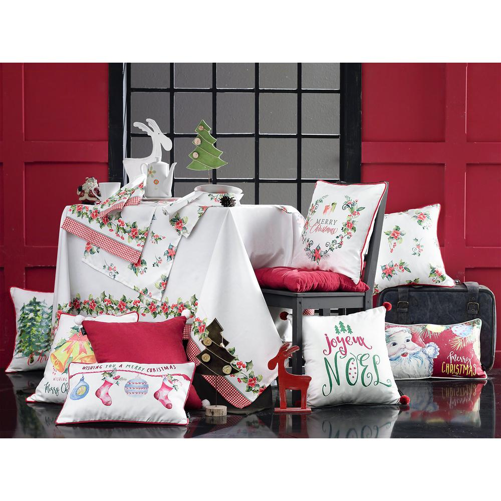 """Set of 2 18"""" Christmas Trees Throw Pillow Cover in Multicolor - 376884. Picture 6"""