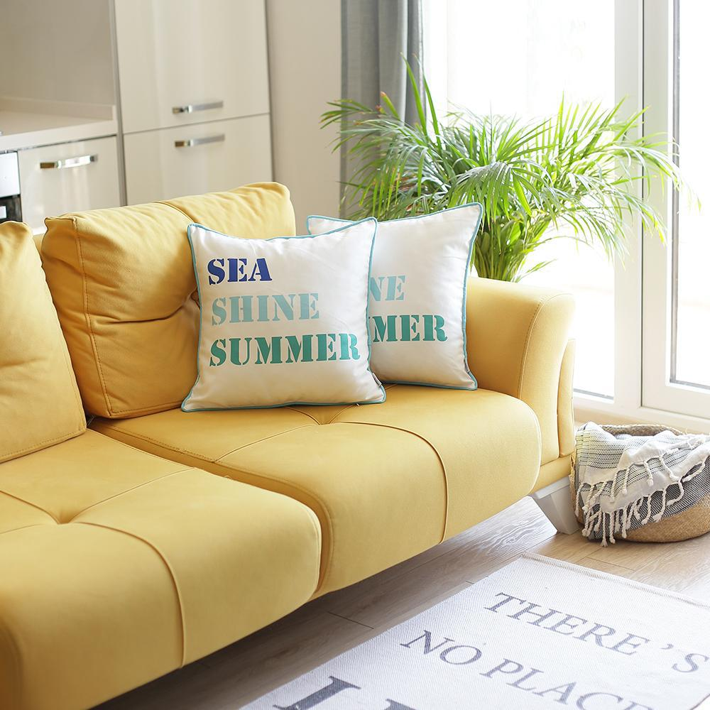 Set of 2 Sea Shine Summer Throw Pillow Covers - 376889. Picture 1