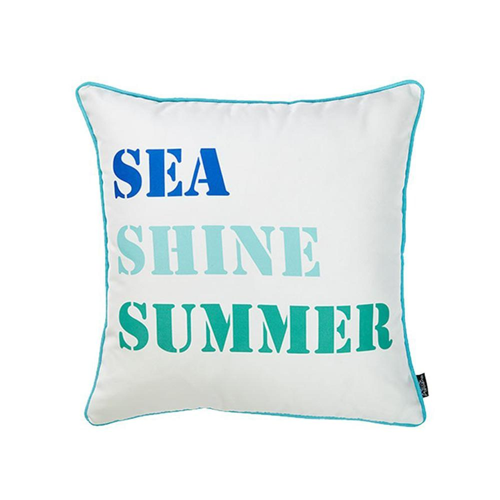 Set of 2 Sea Shine Summer Throw Pillow Covers - 376889. Picture 5