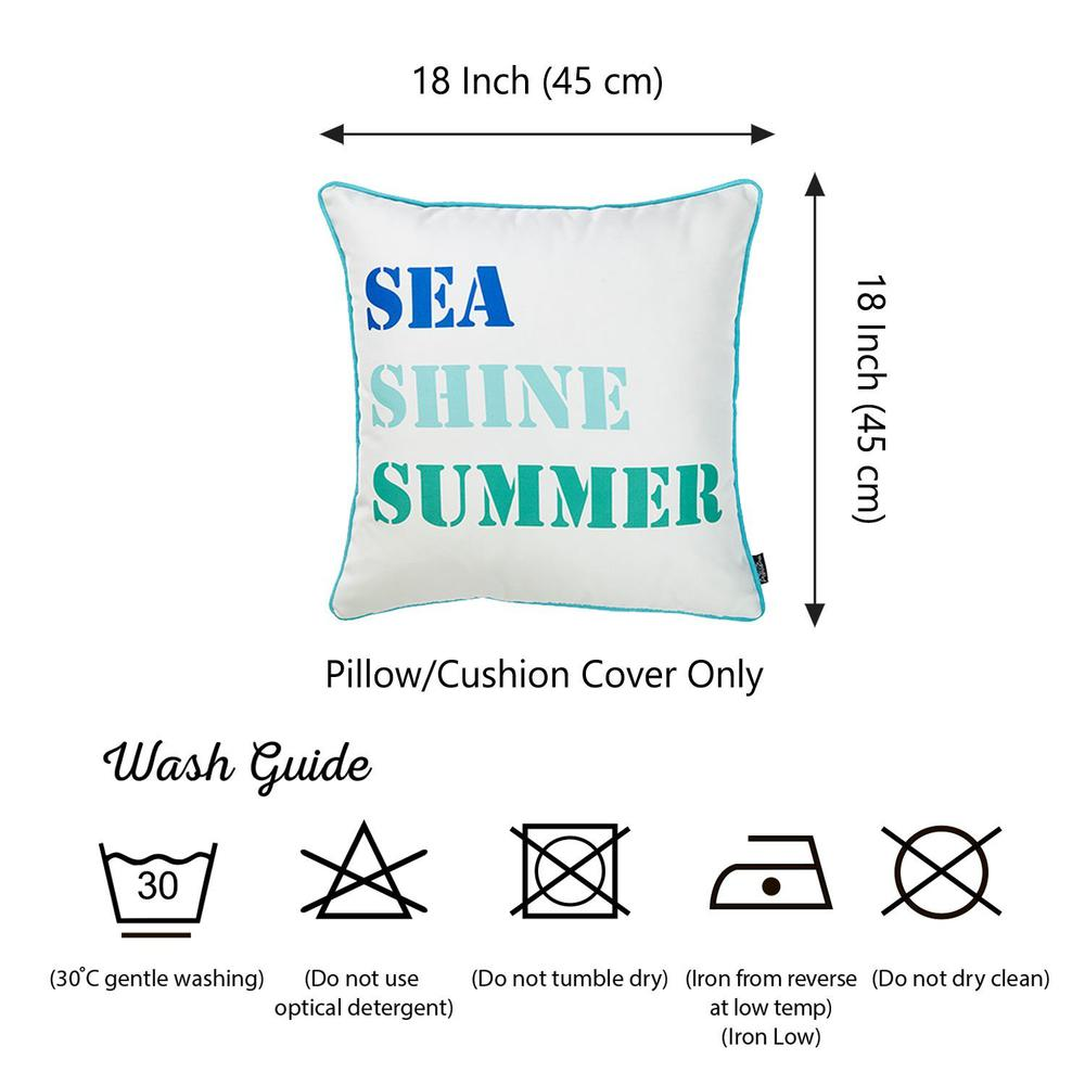 Set of 2 Sea Shine Summer Throw Pillow Covers - 376889. Picture 3