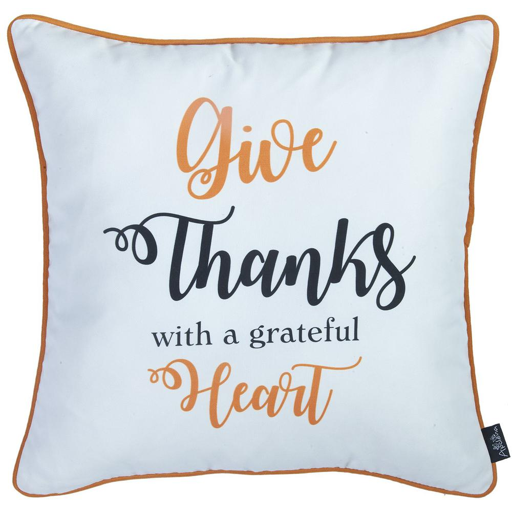 """Set of 2 18"""" Thanksgiving Pumpkin Spice Throw Pillow Cover in Multicolor - 376891. Picture 3"""