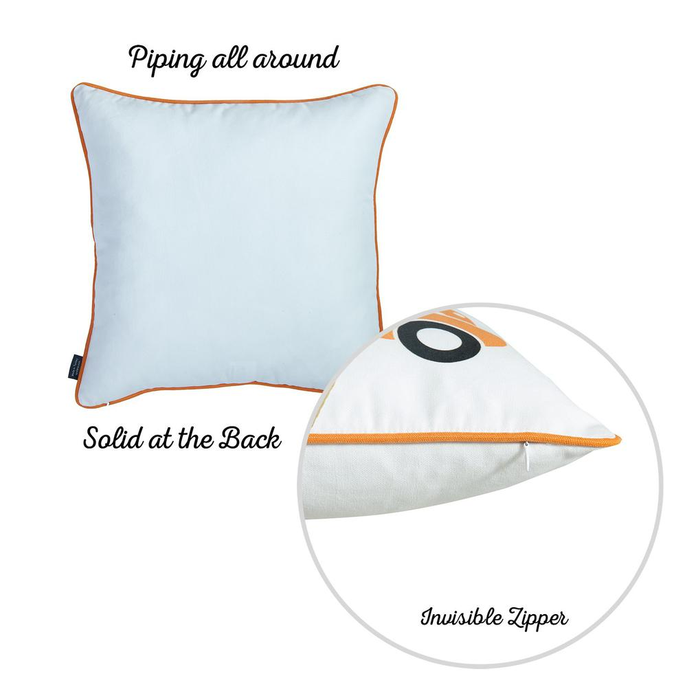 """Set of 2 18"""" Thanksgiving Pumpkin Spice Throw Pillow Cover in Multicolor - 376891. Picture 5"""