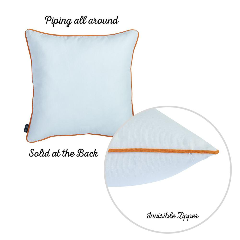 """Set of 2 18"""" Fall Thanksgiving Pumpkin Throw Pillow Cover - 376892. Picture 5"""