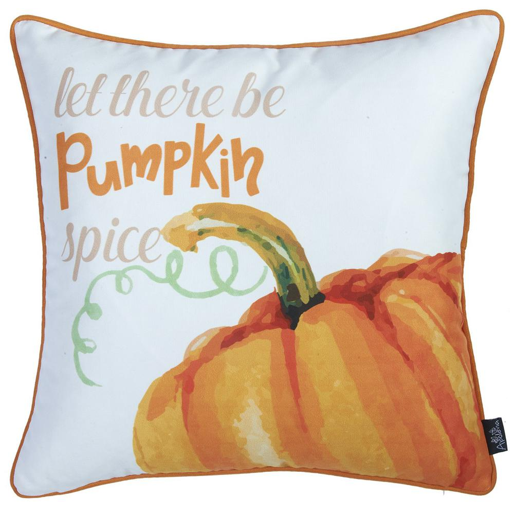 """Set of 2 18""""  Fall Season Pumpkin Pie Throw Pillow Cover in Multicolor - 376894. Picture 3"""