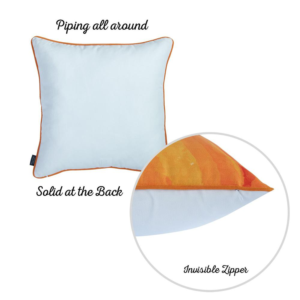 """Set of 2 18""""  Fall Season Pumpkin Pie Throw Pillow Cover in Multicolor - 376894. Picture 5"""