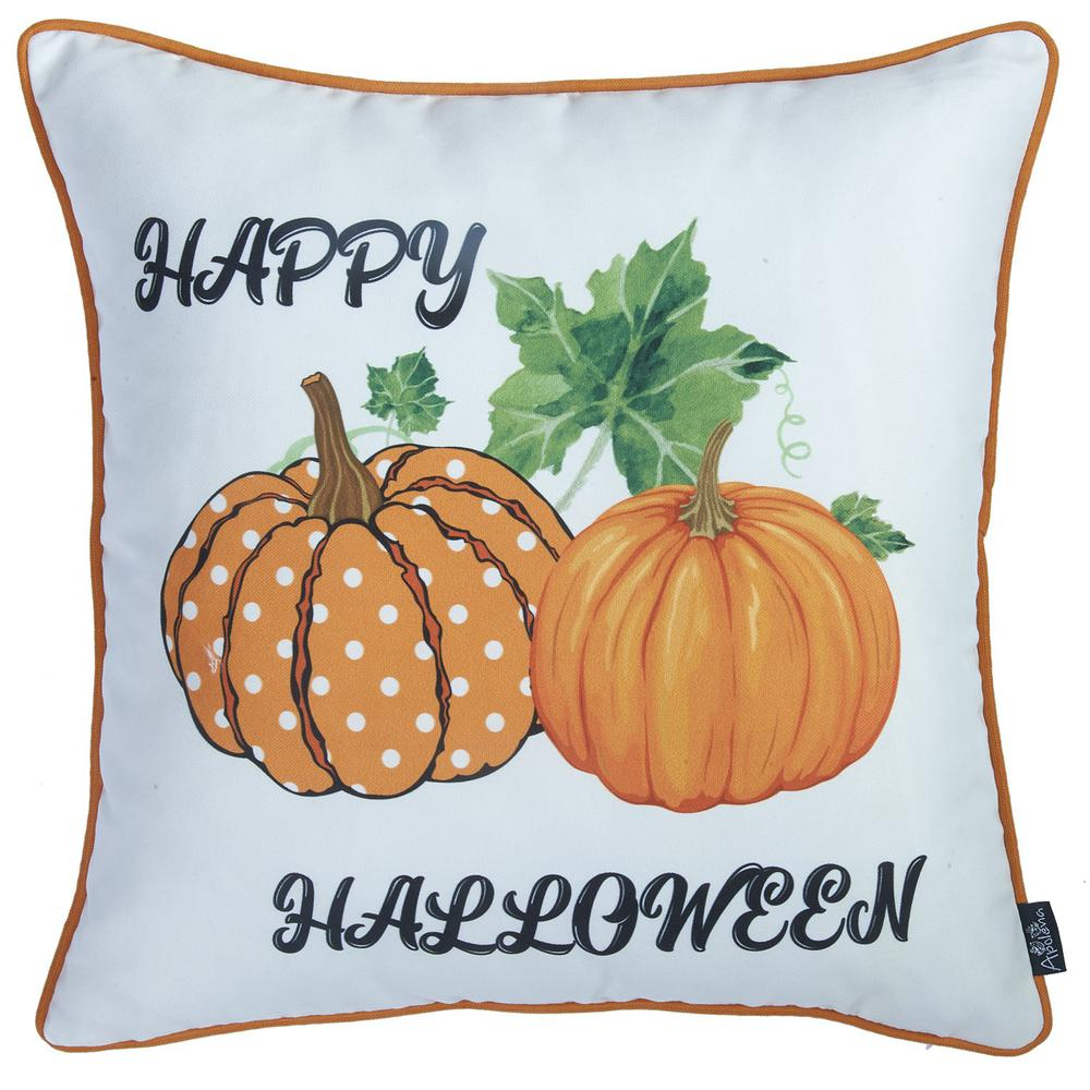 """Set of 4 18"""" Fall Pumpkin Spice Harvest Throw Pillow Cover in Multicolor - 376895. Picture 3"""