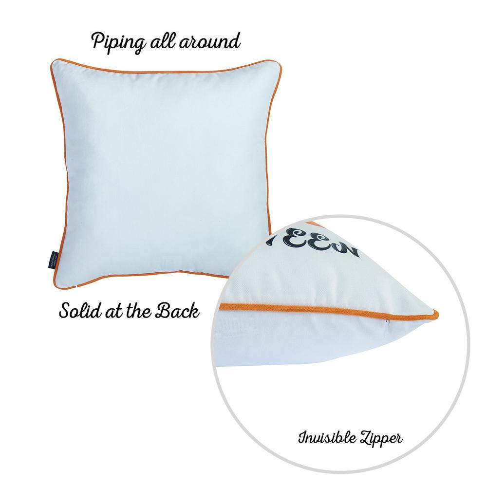 """Set of 4 18"""" Fall Pumpkin Spice Harvest Throw Pillow Cover in Multicolor - 376895. Picture 5"""
