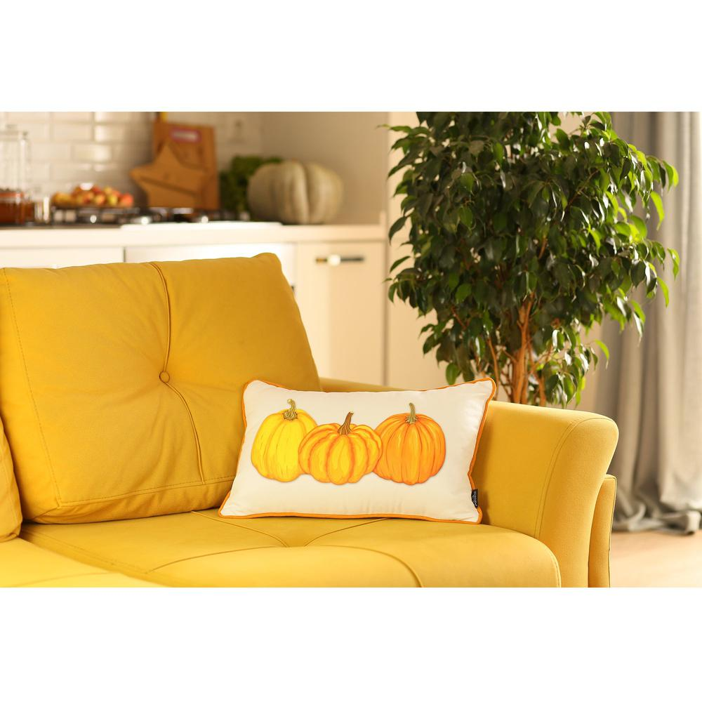 """Set of 2 20"""" Thanksgiving Pumpkin Throw Pillow Cover in Multicolor - 376902. Picture 4"""