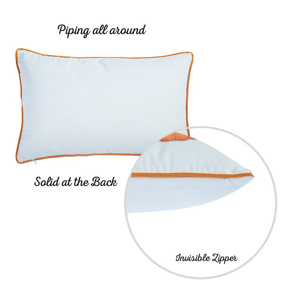 """Set of 2 20"""" Thanksgiving Pumpkin Throw Pillow Cover in Multicolor - 376902. Picture 6"""