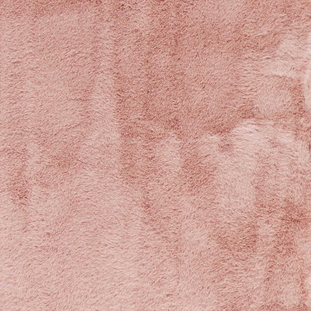 Luxe Faux Rabbit Fur Rectangular Rug 3' x 5'   - Blush Pink - 376912. Picture 3