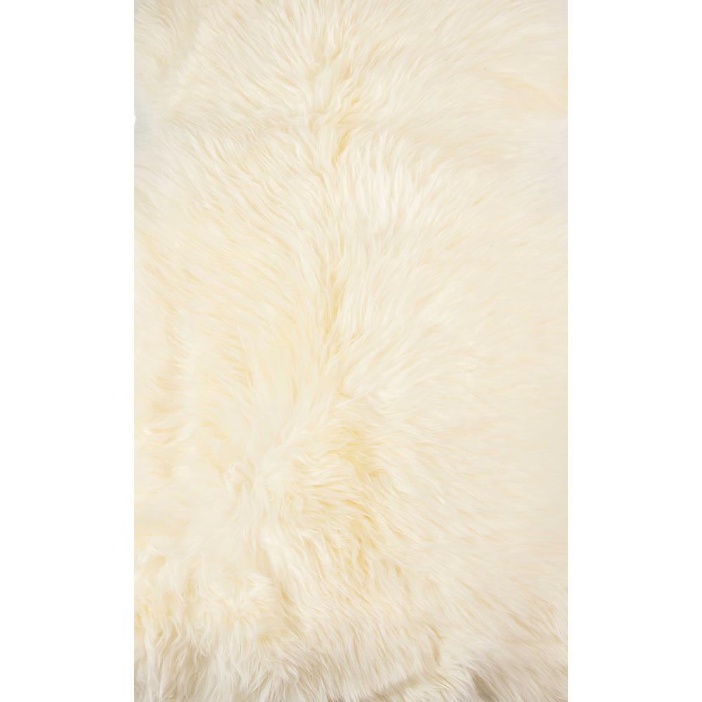 2' x 3' Ivory New Zealand Natural Sheepskin Rug - 376919. Picture 1