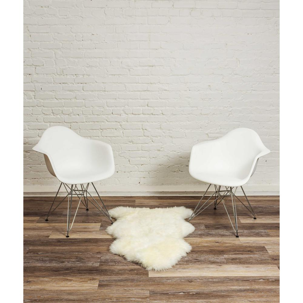 2' x 3' Ivory New Zealand Natural Sheepskin Rug - 376919. Picture 4