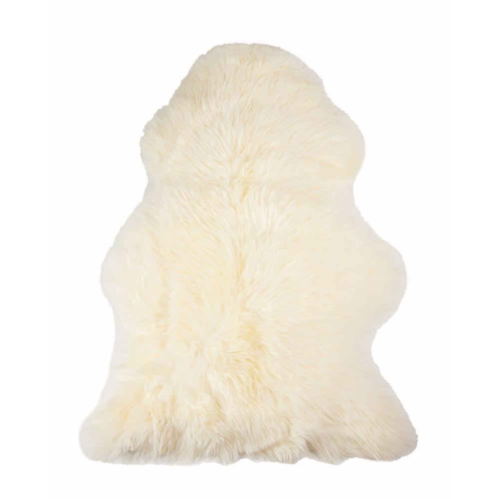2' x 3' Ivory New Zealand Natural Sheepskin Rug - 376919. Picture 6