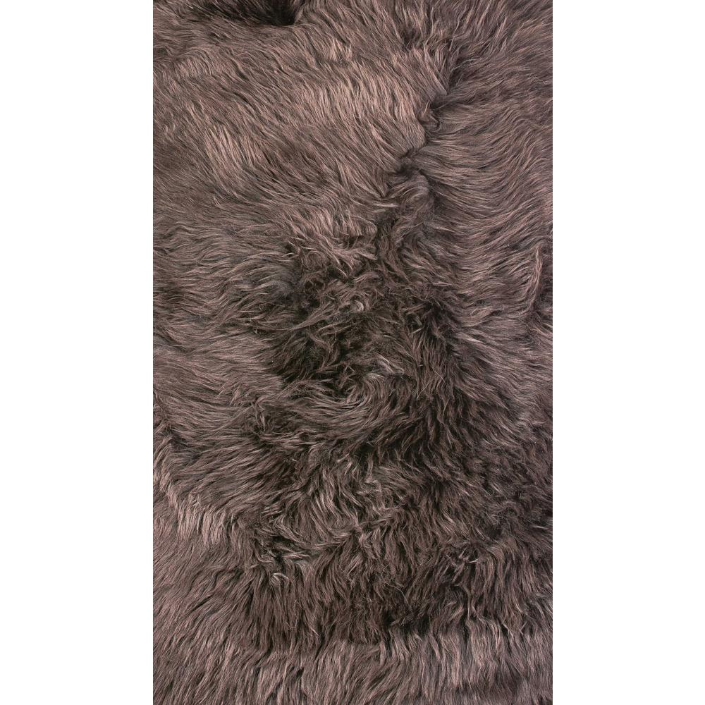 2' x 3' Chocolate New Zealand Natural Sheepskin Rug - 376921. Picture 1