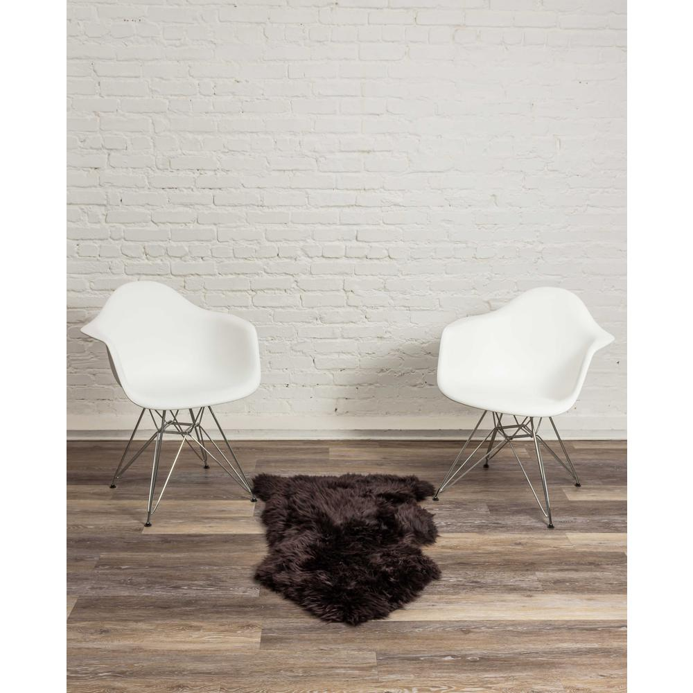 2' x 3' Chocolate New Zealand Natural Sheepskin Rug - 376921. Picture 4