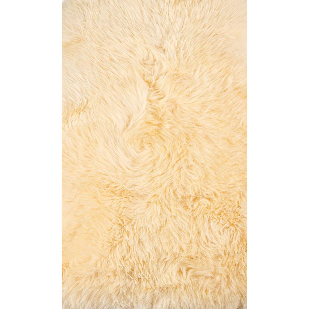 2' x 3' Cream New Zealand Natural Sheepskin Rug - 376926. Picture 1