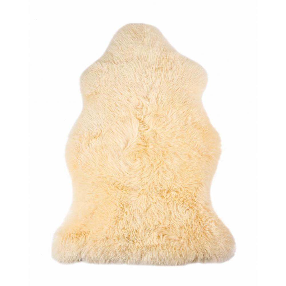 2' x 3' Cream New Zealand Natural Sheepskin Rug - 376926. Picture 6