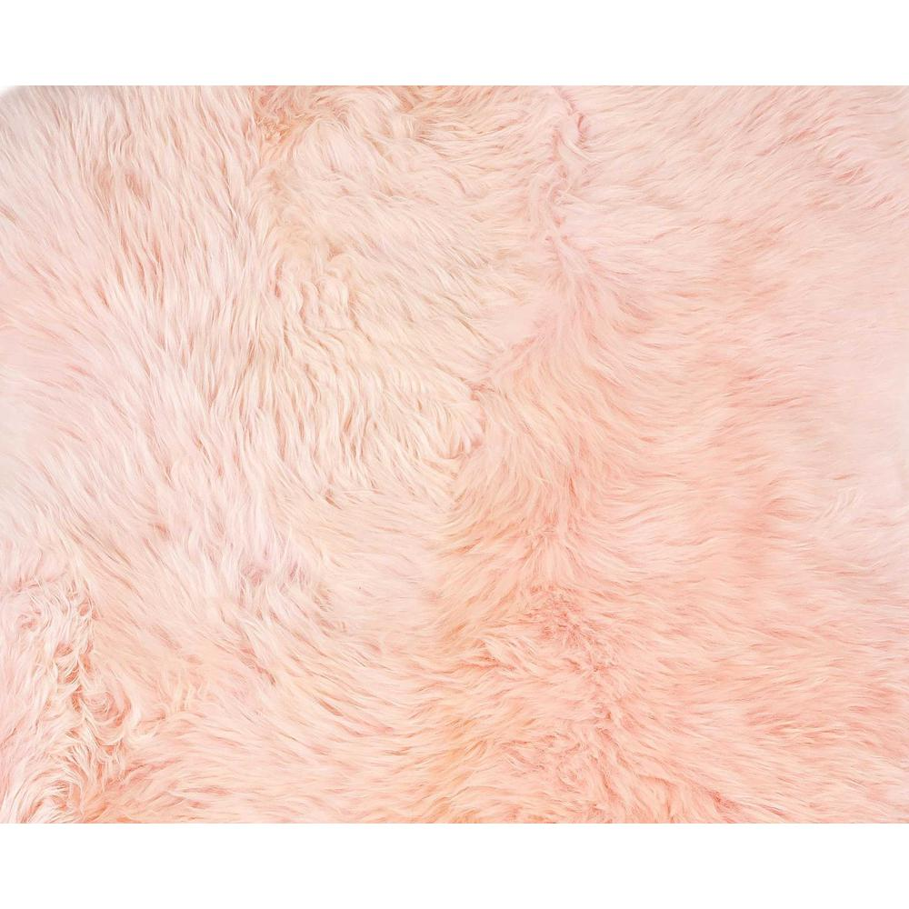 2' x 3' Rose New Zealand Natural Shearling Sheepskin Rug - 376927. Picture 2