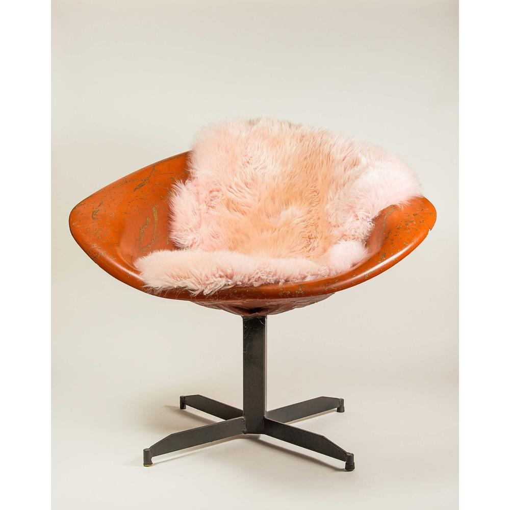 2' x 3' Rose New Zealand Natural Shearling Sheepskin Rug - 376927. Picture 3