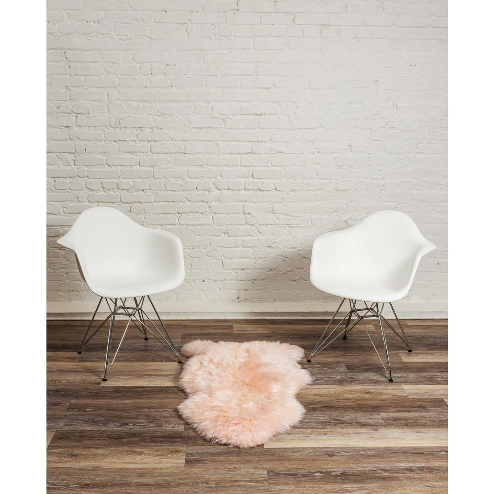 2' x 3' Rose New Zealand Natural Shearling Sheepskin Rug - 376927. Picture 4