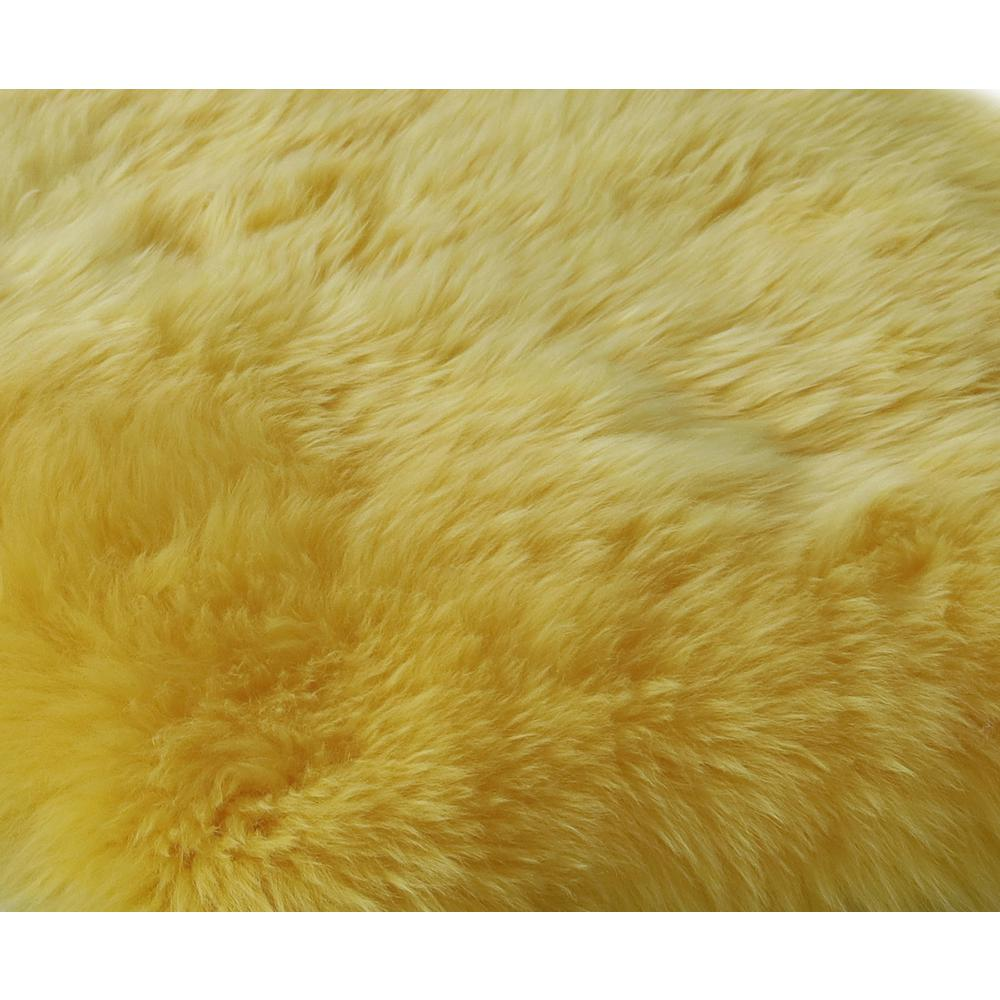 2' x 3' Yellow New Zealand Natural Sheepskin Rug - 376929. Picture 2
