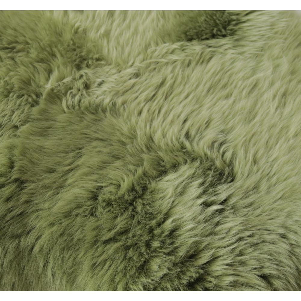 Sage Green New Zealand Natural  Sheepskin Rug - 376936. Picture 2