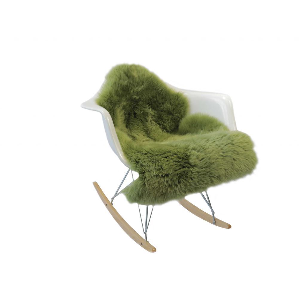 Sage Green New Zealand Natural  Sheepskin Rug - 376936. Picture 3