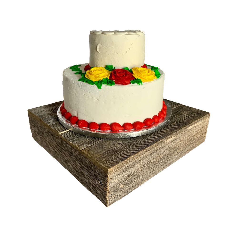 Natural Weathered Gray Cake Stand - 379879. Picture 1
