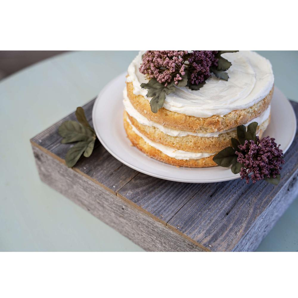 Natural Weathered Gray Cake Stand - 379879. Picture 2