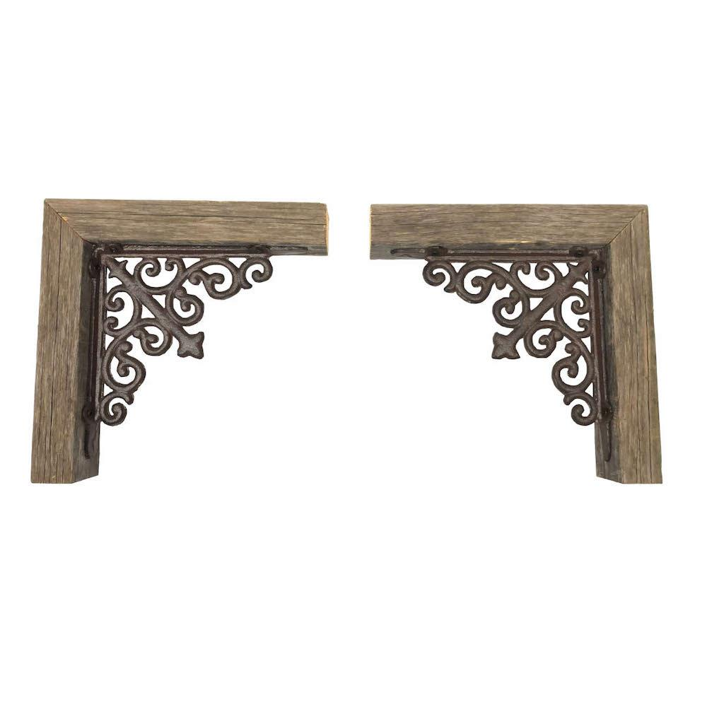 Set of 2 Weathered Gray Corbels - 379889. Picture 1