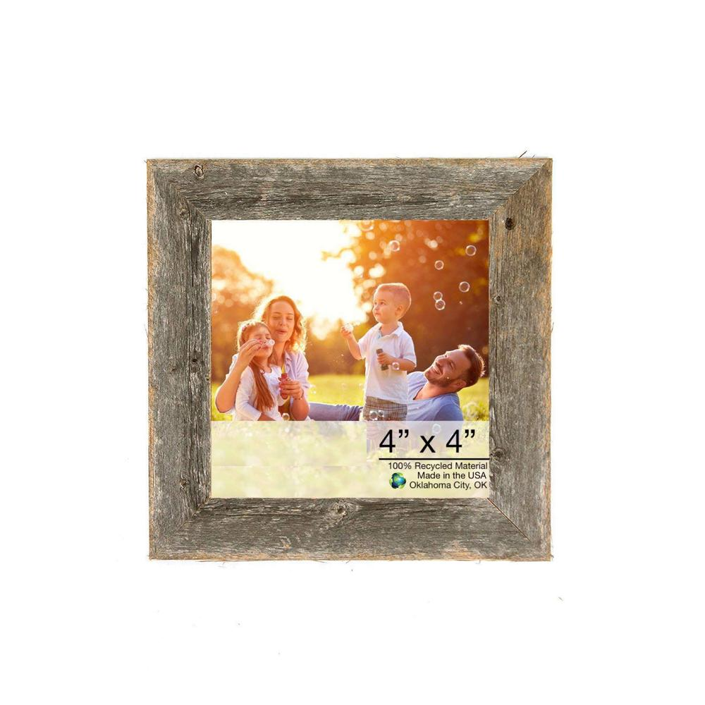 """4"""" x 4"""" Natural Weathered Gray Picture Frame - 379893. Picture 1"""