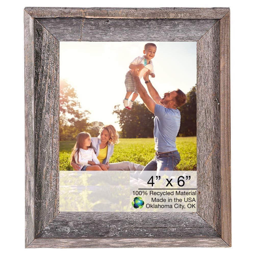 """4"""" x 6"""" Natural Weathered Gray Picture Frame - 379894. Picture 1"""
