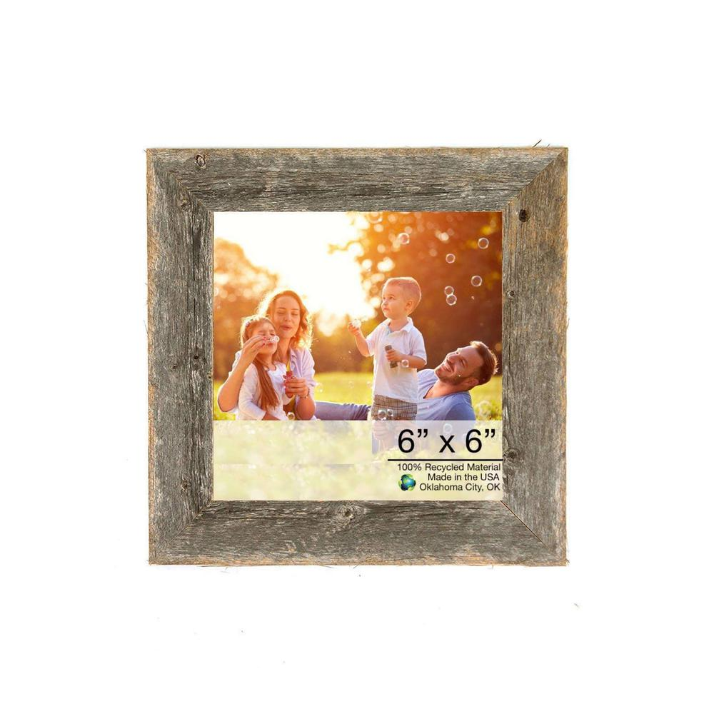 """6"""" x 6"""" Natural Weathered Gray Picture Frame - 379896. Picture 1"""