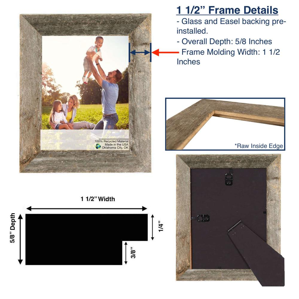 """6"""" x 6"""" Natural Weathered Gray Picture Frame - 379896. Picture 5"""
