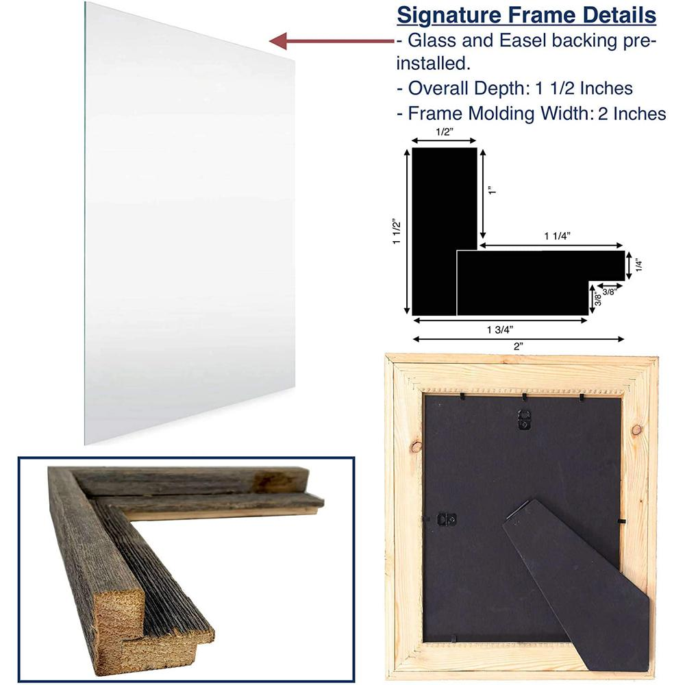 """8"""" x 10"""" Natural Weathered Gray Picture Frame - 379899. Picture 5"""