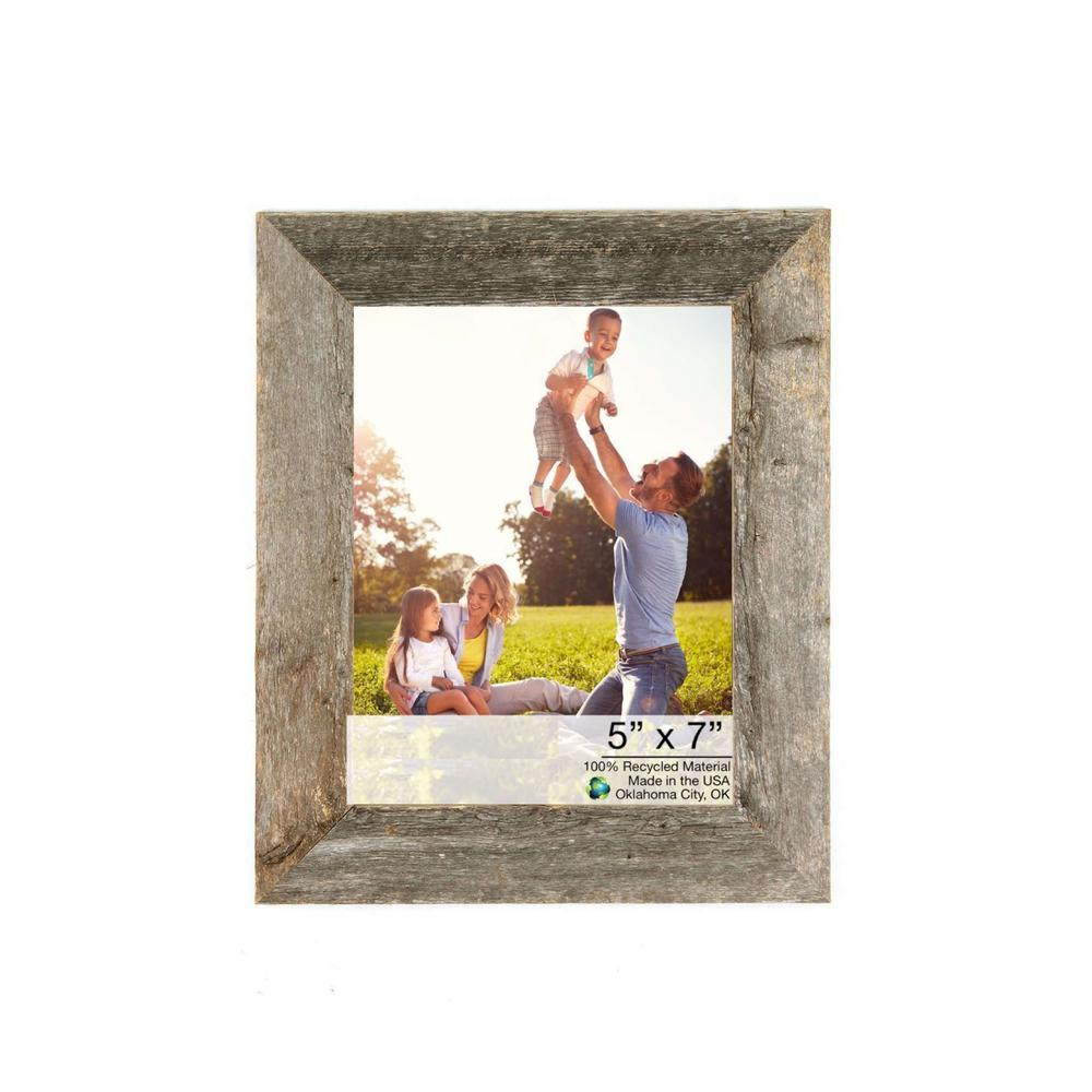 """5"""" x 7"""" Natural Weathered Gray Picture Frame - 379900. Picture 1"""