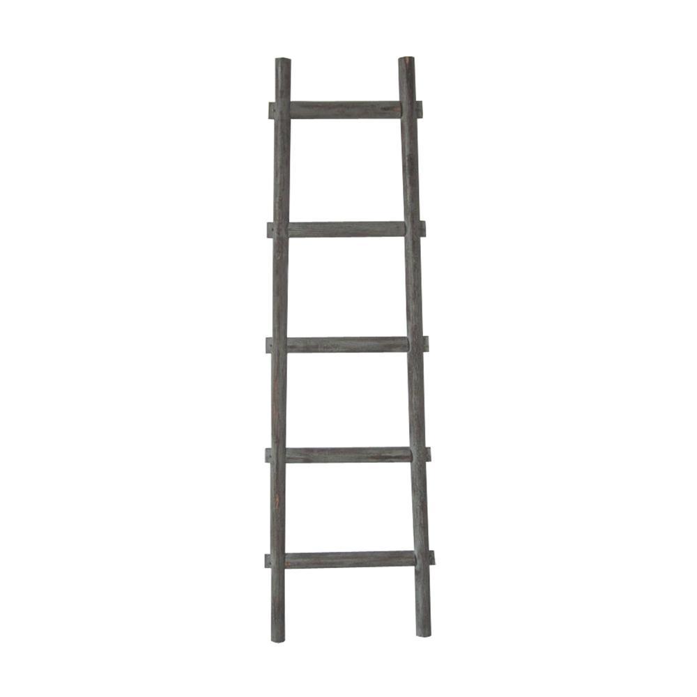 5 Step Grey Decorative Ladder Shelve - 379914. Picture 1