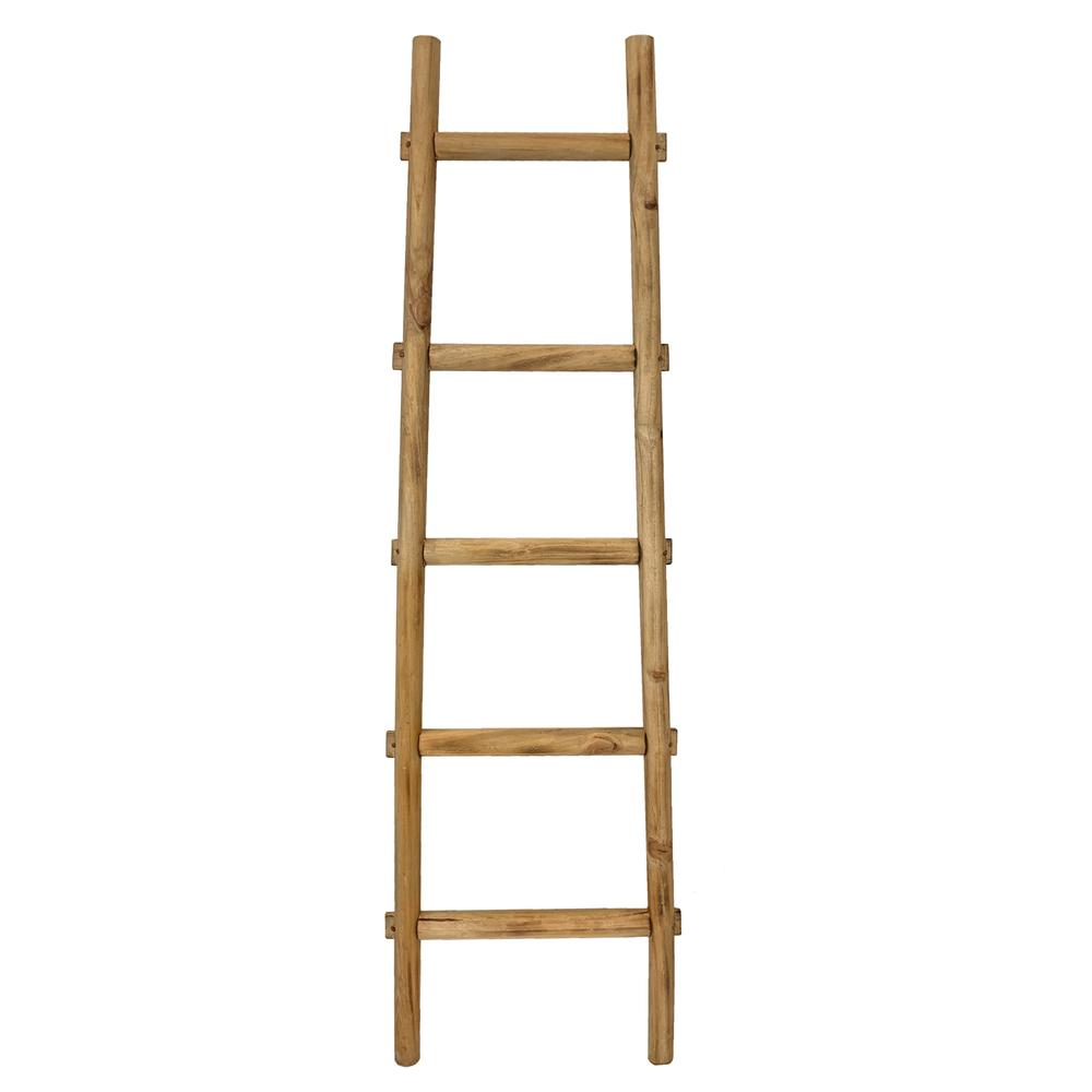 5 Step Brown Decorative Ladder Shelve - 379915. Picture 1