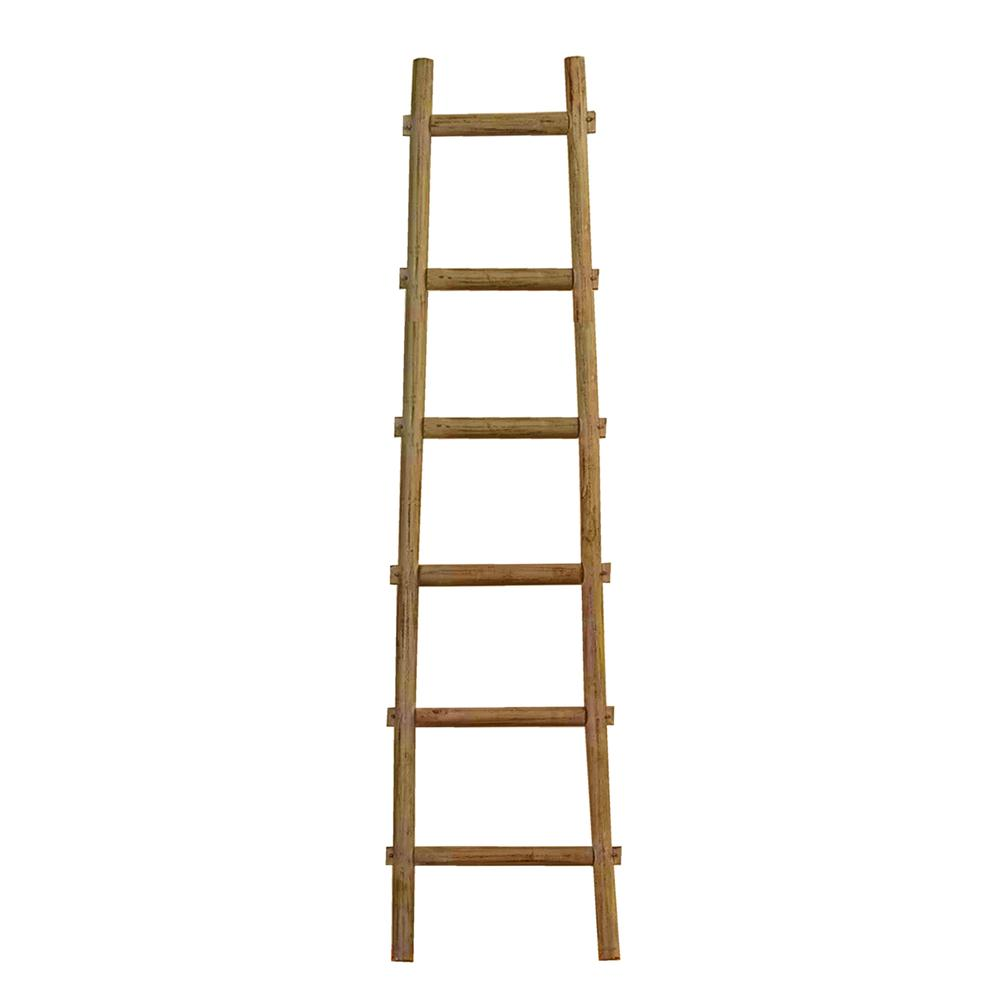 6 Step Brown Decorative Ladder Shelve - 379917. Picture 1
