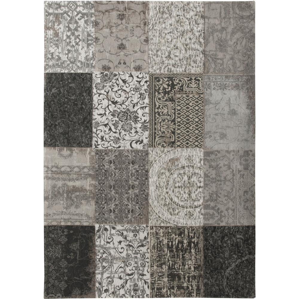6' x 7' Black White and Grey Patchwork Design Area Rug - 380563. Picture 2