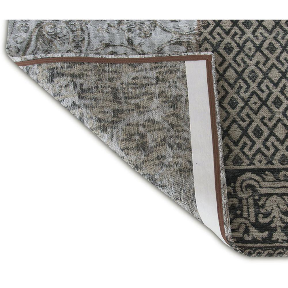 6' x 7' Black White and Grey Patchwork Design Area Rug - 380563. Picture 3