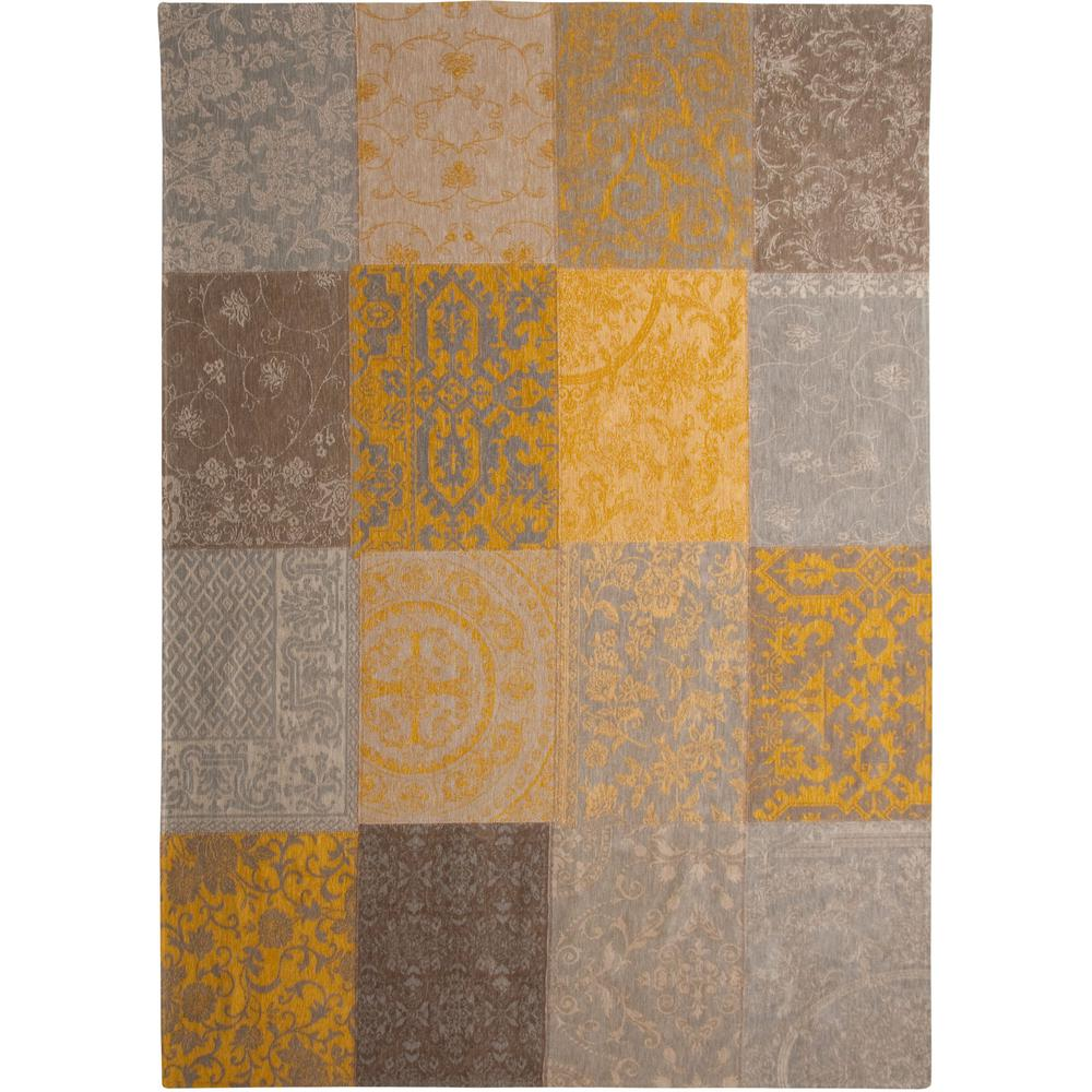 5' x 7' Yellow and Gray Patchwork Design Area Rug - 380574. Picture 2