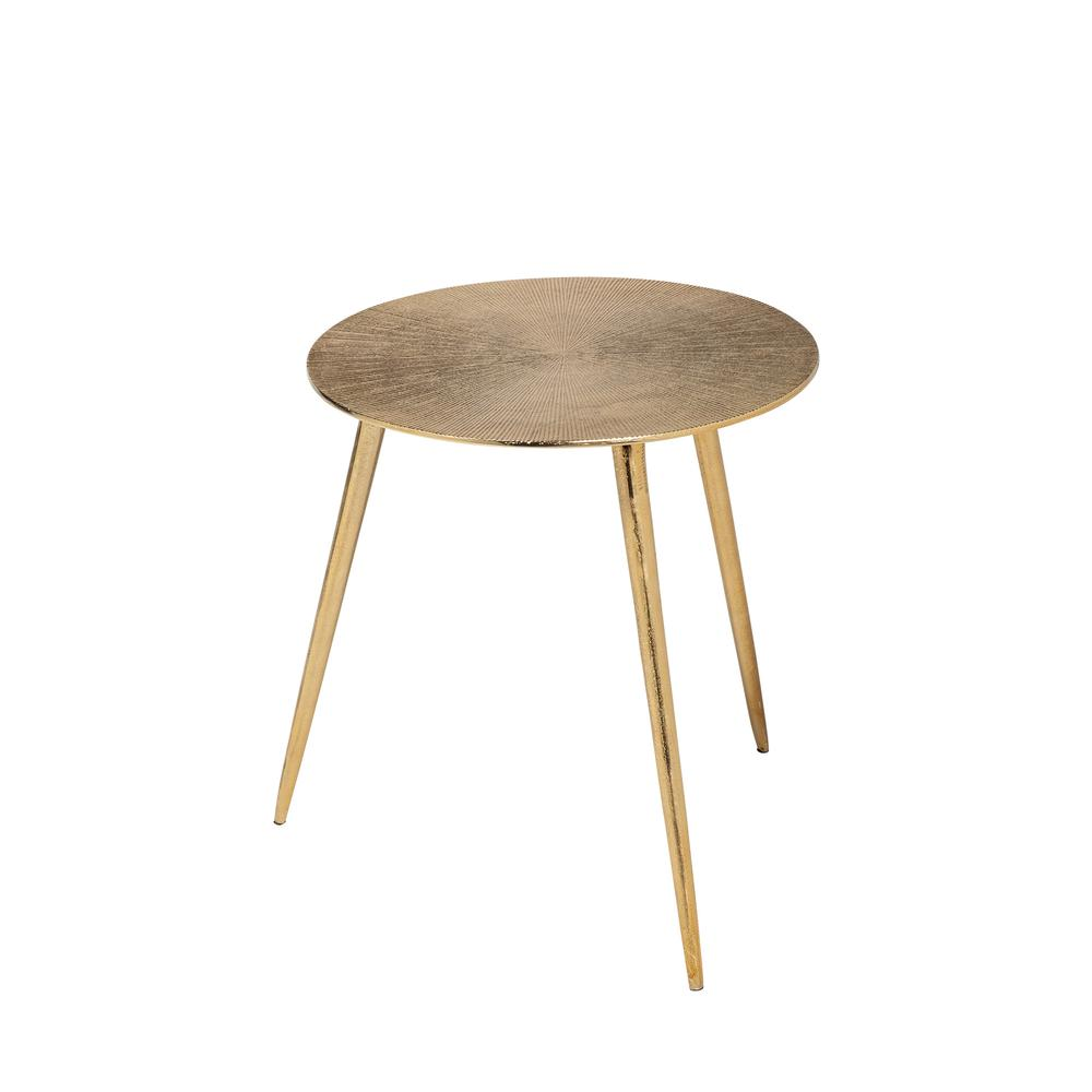 Small Gold Finish Round Starburst Accent Table - 380712. Picture 1