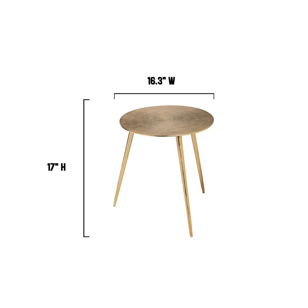 Small Gold Finish Round Starburst Accent Table - 380712. Picture 4