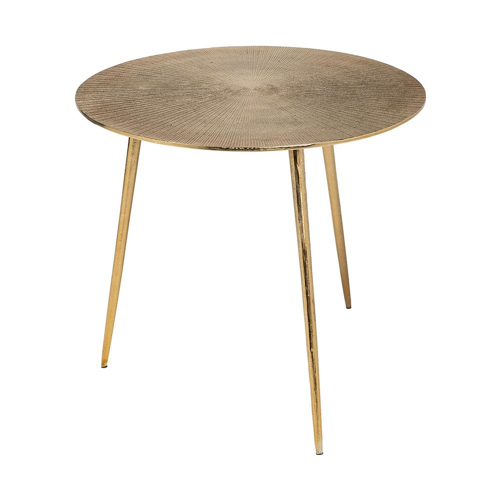 Large Gold Finish Round Starburst Accent Table - 380714. Picture 1