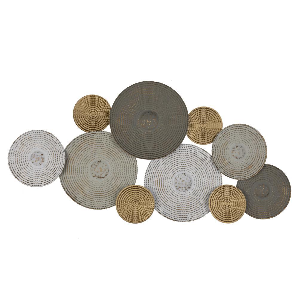 Contempo Textured Metallic Plates Wall Decor - 380768. Picture 1