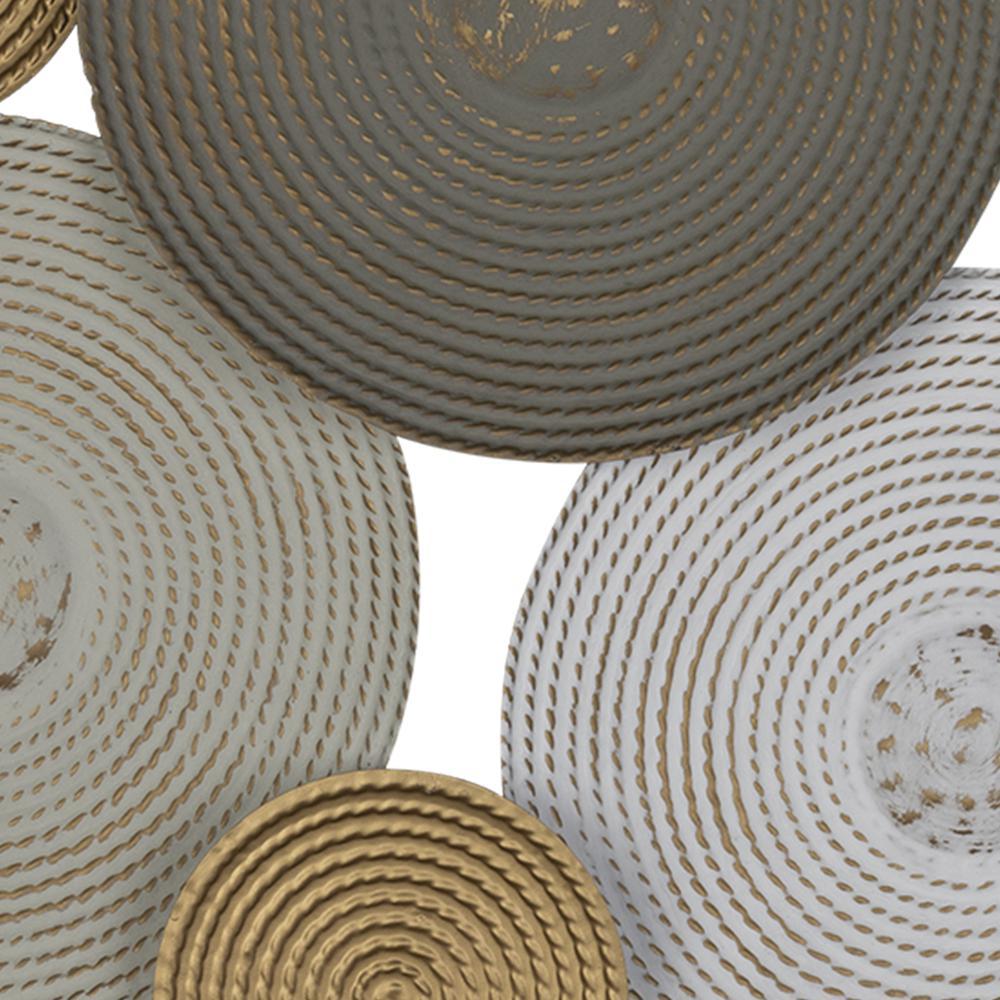 Contempo Textured Metallic Plates Wall Decor - 380768. Picture 2