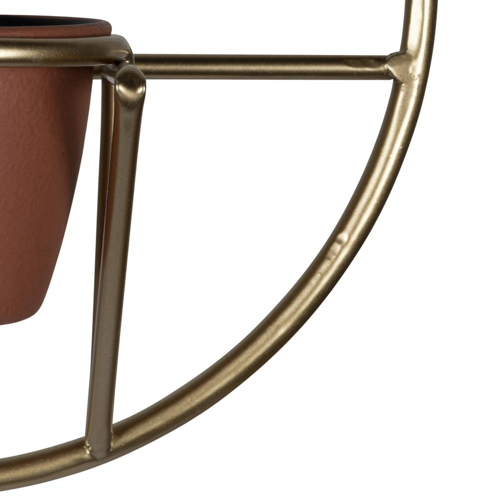 Set of 2 Gold Circular Wall Planters - 380770. Picture 3