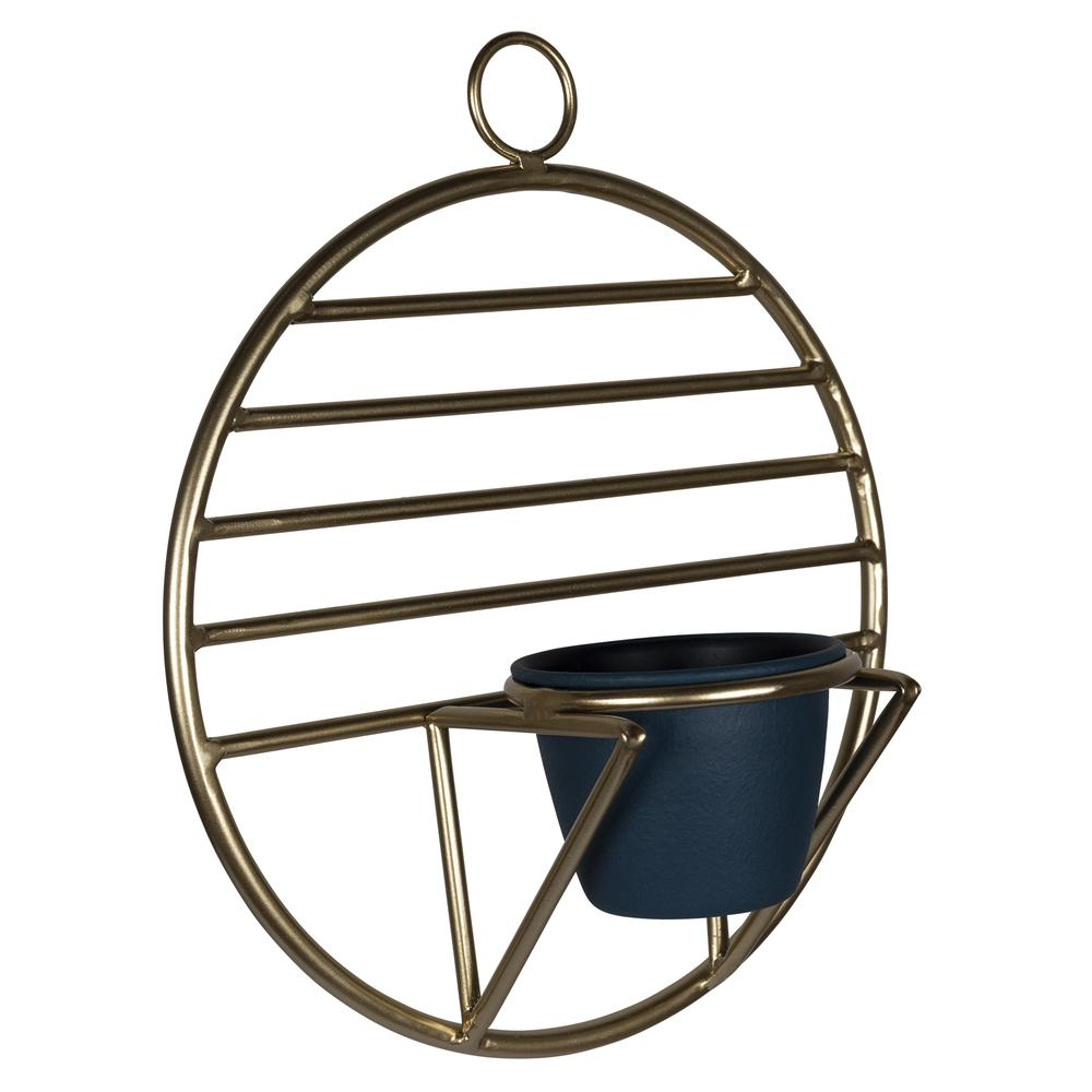 Set of 2 Gold Circular Wall Planters - 380770. Picture 6