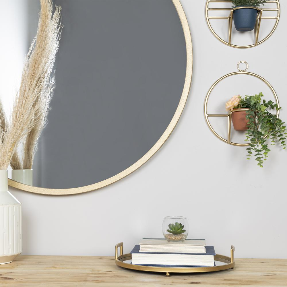Set of 2 Gold Circular Wall Planters - 380770. Picture 7